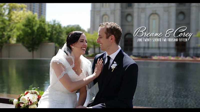 Breane and Corey Salt Lake Temple