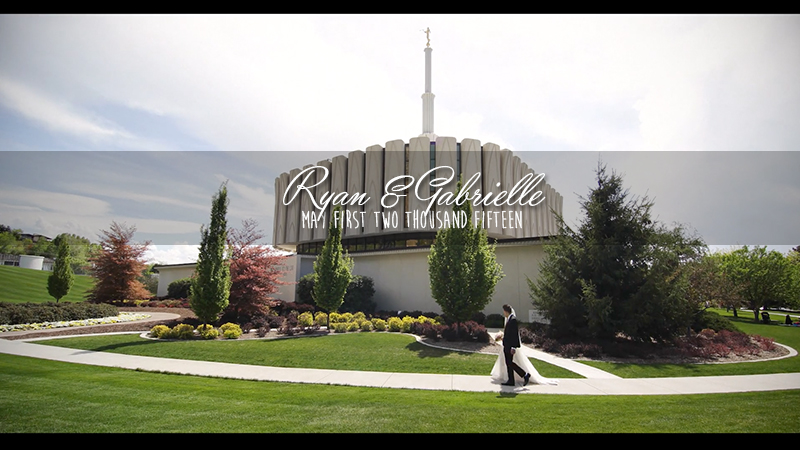 Gabrielle and Ryan Provo Temple